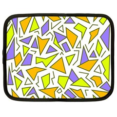 Retro Shapes 04 Netbook Case (large) by jumpercat