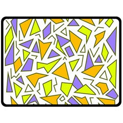Retro Shapes 04 Fleece Blanket (large)  by jumpercat