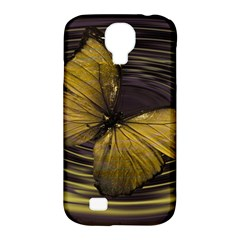 Butterfly Insect Wave Concentric Samsung Galaxy S4 Classic Hardshell Case (pc+silicone) by Celenk
