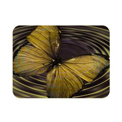 Butterfly Insect Wave Concentric Double Sided Flano Blanket (mini)  by Celenk