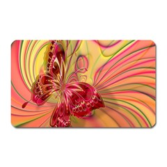 Arrangement Butterfly Aesthetics Magnet (rectangular) by Celenk