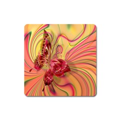 Arrangement Butterfly Aesthetics Square Magnet by Celenk