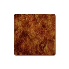 Abstract Flames Fire Hot Square Magnet by Celenk