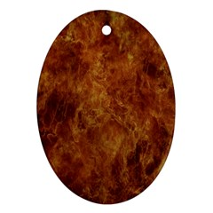 Abstract Flames Fire Hot Oval Ornament (two Sides) by Celenk