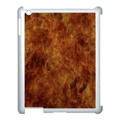 Abstract Flames Fire Hot Apple Ipad 3/4 Case (white) by Celenk