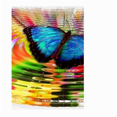 Blue Morphofalter Butterfly Insect Large Garden Flag (two Sides) by Celenk