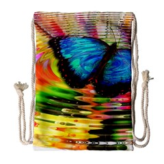 Blue Morphofalter Butterfly Insect Drawstring Bag (large) by Celenk