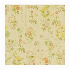 Floral Wallpaper Flowers Vintage Medium Glasses Cloth (2 Side) by Celenk