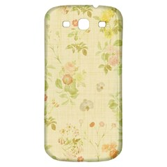 Floral Wallpaper Flowers Vintage Samsung Galaxy S3 S Iii Classic Hardshell Back Case by Celenk