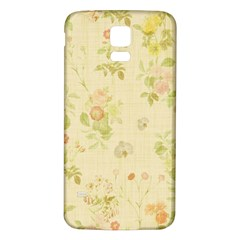 Floral Wallpaper Flowers Vintage Samsung Galaxy S5 Back Case (white) by Celenk