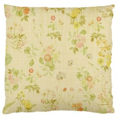 Floral Wallpaper Flowers Vintage Large Flano Cushion Case (one Side) by Celenk