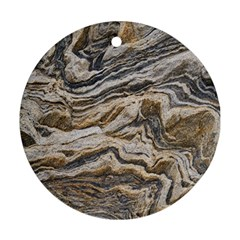 Texture Marble Abstract Pattern Round Ornament (two Sides) by Celenk