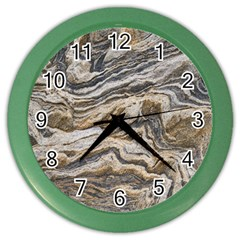 Texture Marble Abstract Pattern Color Wall Clocks by Celenk