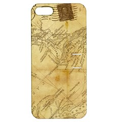 Vintage Map Background Paper Apple Iphone 5 Hardshell Case With Stand by Celenk