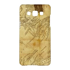 Vintage Map Background Paper Samsung Galaxy A5 Hardshell Case  by Celenk