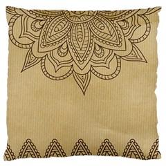 Vintage Background Paper Mandala Standard Flano Cushion Case (one Side) by Celenk