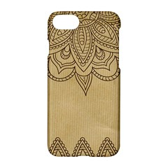 Vintage Background Paper Mandala Apple Iphone 8 Hardshell Case