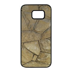 Brick Wall Stone Kennedy Samsung Galaxy S7 Edge Black Seamless Case by Celenk