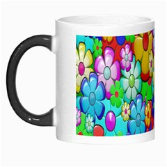 Flowers Ornament Decoration Morph Mugs by Celenk