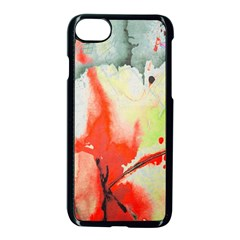 Fabric Texture Softness Textile Apple Iphone 7 Seamless Case (black) by Celenk