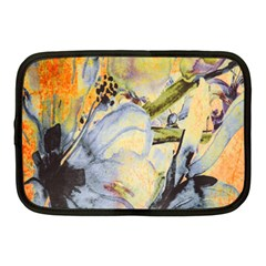 Flower Texture Pattern Fabric Netbook Case (medium)  by Celenk