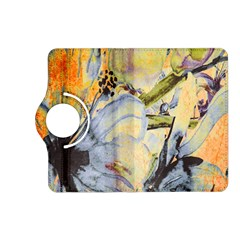 Flower Texture Pattern Fabric Kindle Fire Hd (2013) Flip 360 Case by Celenk