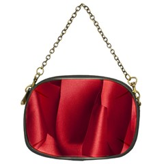 Red Fabric Textile Macro Detail Chain Purses (two Sides)  by Celenk