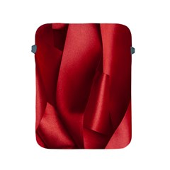 Red Fabric Textile Macro Detail Apple Ipad 2/3/4 Protective Soft Cases by Celenk