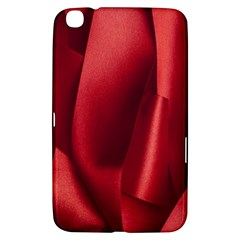 Red Fabric Textile Macro Detail Samsung Galaxy Tab 3 (8 ) T3100 Hardshell Case  by Celenk