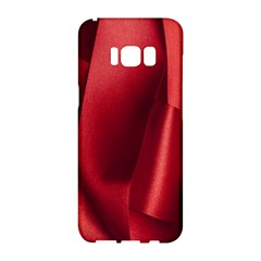 Red Fabric Textile Macro Detail Samsung Galaxy S8 Hardshell Case  by Celenk