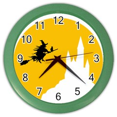 Castle Cat Evil Female Fictional Color Wall Clocks by Celenk