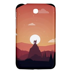 Design Art Hill Hut Landscape Samsung Galaxy Tab 3 (7 ) P3200 Hardshell Case  by Celenk