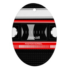 Compact Cassette Musicassette Mc Oval Ornament (two Sides) by Celenk