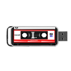 Compact Cassette Musicassette Mc Portable Usb Flash (two Sides)