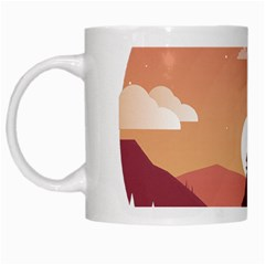 Design Art Hill Hut Landscape White Mugs
