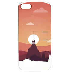 Design Art Hill Hut Landscape Apple Iphone 5 Hardshell Case With Stand by Celenk