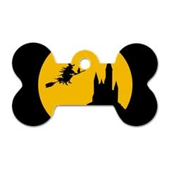 Castle Cat Evil Female Fictional Dog Tag Bone (two Sides) by Celenk