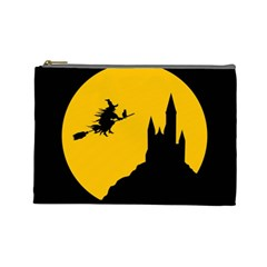 Castle Cat Evil Female Fictional Cosmetic Bag (large)  by Celenk