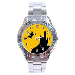 Castle Cat Evil Female Fictional Stainless Steel Analogue Watch by Celenk