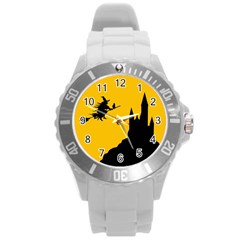 Castle Cat Evil Female Fictional Round Plastic Sport Watch (l) by Celenk