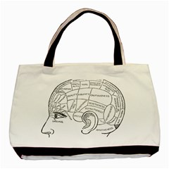 Brain Chart Diagram Face Fringe Basic Tote Bag by Celenk