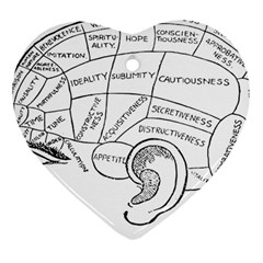 Brain Chart Diagram Face Fringe Heart Ornament (two Sides) by Celenk