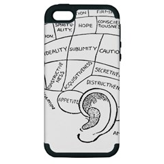 Brain Chart Diagram Face Fringe Apple Iphone 5 Hardshell Case (pc+silicone) by Celenk