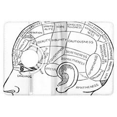 Brain Chart Diagram Face Fringe Kindle Fire Hdx Flip 360 Case by Celenk