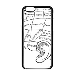 Brain Chart Diagram Face Fringe Apple Iphone 6/6s Black Enamel Case by Celenk