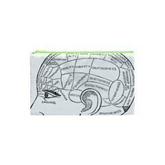 Brain Chart Diagram Face Fringe Cosmetic Bag (xs) by Celenk