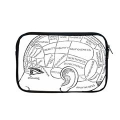 Brain Chart Diagram Face Fringe Apple Macbook Pro 13  Zipper Case by Celenk