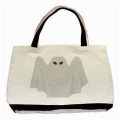 Ghost Halloween Spooky Horror Fear Basic Tote Bag by Celenk