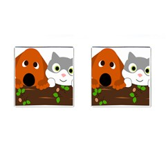 Baby Decoration Cat Dog Stuff Cufflinks (square) by Celenk