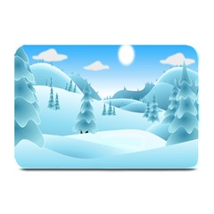 Landscape Winter Ice Cold Xmas Plate Mats by Celenk